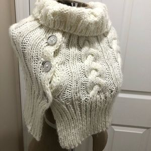 MICHAEL KORS ivory cowl neck scarf